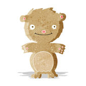 Cartoon happy little teddy bear — Stockvektor