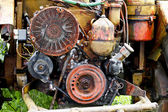 Engine of tractor — Stock Photo