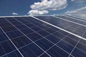 Wykorzystanie odnawialnych źródeł energii słonecznej elektrowni — Zdjęcie stockowe