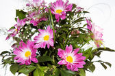 Bouquet off flowers, isolated on white — Stock Photo