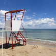 Empty lifeguard tower chair — Stock Photo
