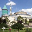 Tomb of Mevlana, founder of Mevlevi sufi dervish order — Stock Photo #27344949