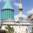 Tomb of Mevlana, the founder of Mevlevi sufi dervish order, with — Stock Photo