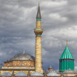 HDR: Tomb of Mevlana, founder of Mevlevi sufi dervish order — Stock Photo #30597273