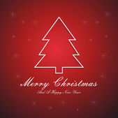 Card with Christmas tree — Photo