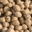 Walnuts in shells — Stock Photo