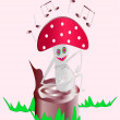Stock Photo: Fly-agaric sings