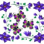 Butterflies on flowers — Stock Photo #12658476