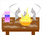 Rats eat cheese — Stock Photo