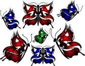 Krásné světlé motýl — Stock fotografie