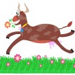 Royalty-Free Stock Vector Image: Brown cow in the meadow