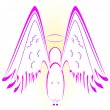 Angel with wings — Stock Vector