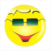 Smile in the bespectacled — Stock Vector