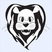 Lion is a portrait — Stock Vector