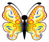 Colored butterfly — Stock Vector