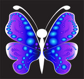 Butterfly on a black background — Stock Vector