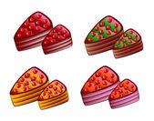 Sweet cake — Stock Vector