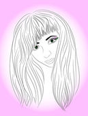 Portret młodej dziewczyny, piękne — Wektor stockowy