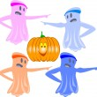 Stock Photo: Comics funny ghosts