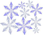 Abstract snowflakes — Stock Photo