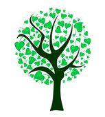 Ağaç yaprakları ile — Stok Vektör