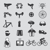 Bike tools and equipment part and accessories — Cтоковый вектор