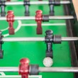 Stock Photo: Close up of foosball game with soccer ball