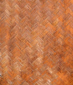 Native Thai style bamboo wall Bamboo pattern basketry handmade — Stock Photo