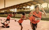 Marathon en cours d'exécution de personnes — Photo