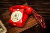 Vintage Of Red Telephone — Stock Photo