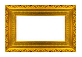 Very big Size Large Golden Picture frame with white background Clipping path included — Stock Photo