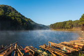Pang-oung lake is Famous Place in Maehongson Province,Thailand — Stock Photo
