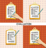 Set of Evaluation approve quality check — Stock Vector