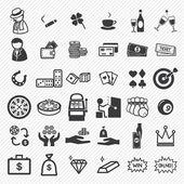 Casino icons set  illustration eps10 — Stock Vector