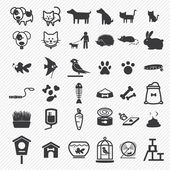 Pet icons set  illustration eps10 — Stock Vector