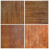 Native Thai style bamboo wall  Bamboo pattern basketry handmade — Stock Photo