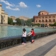 Stock Photo: Children playing in main square of Yerevan