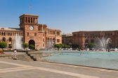 Central square of Yerevan, Hraparak — Stock Photo