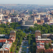 Yerevan. View from an observation deck at a monument to fifty lithium of the Soviet power — Stock Photo