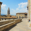 Girona Cathedral area — Stock Photo