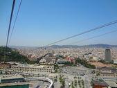 Vista desde el teleférico en barcelona — Foto de Stock