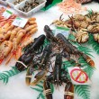 Seafood on the shelves in Spain — Stock Photo