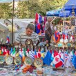 "Flags of the world at the fair ""Vernissage"", Yerevan — Stock Photo"