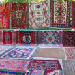 "Stock Photo: Sale of carpets at fair ""Vernisazh"", Yerevan"