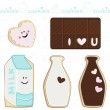 Stock Vector: Sweet cookies set