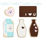 Sweet cookies set — Stock Vector