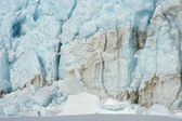 Crack in pack ice in a bay at Spitsbergen. — Stock Photo