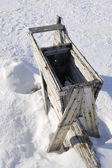 Old wooden trap for killing polar bears at Spitsbergen. — Stock Photo