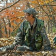 Stock Photo: Ranger in autumn forest 5