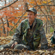 Stock Photo: Ranger in autumn forest 6